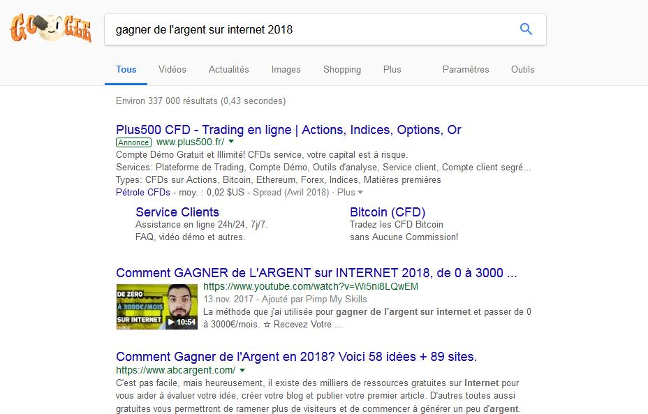 Moteur de recherche Google référencement naturel