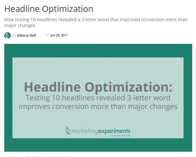 ctr conversion optimisation