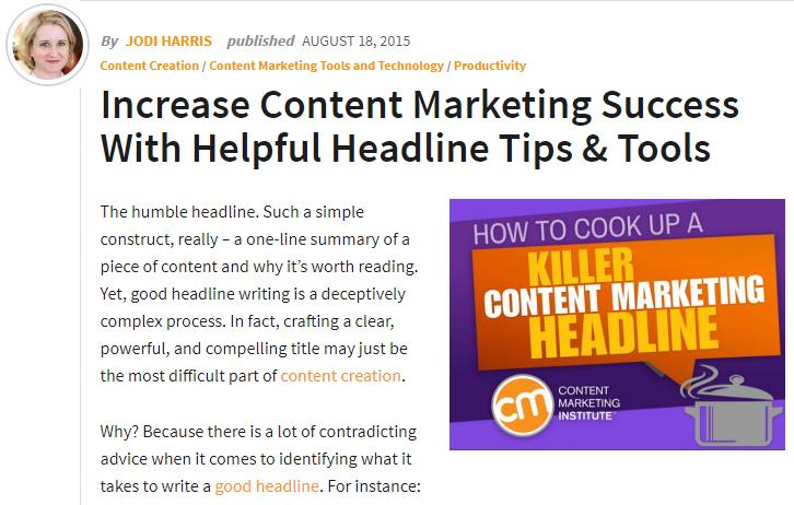 L'importance des titres dans le marketing de contenu