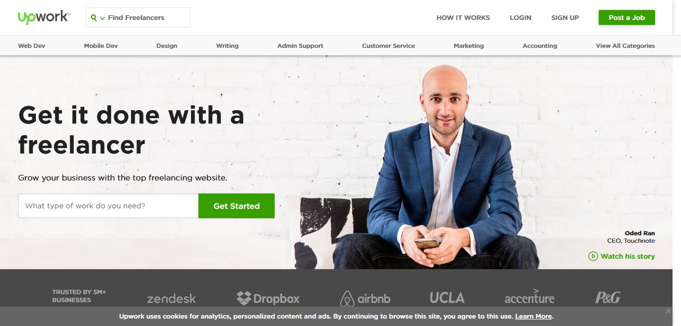 Image de couverture du site upwork.com