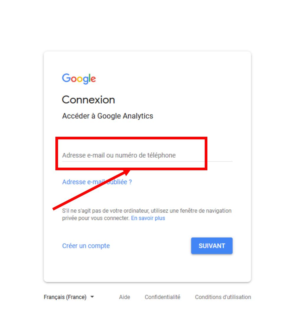 Page de connexion à Google