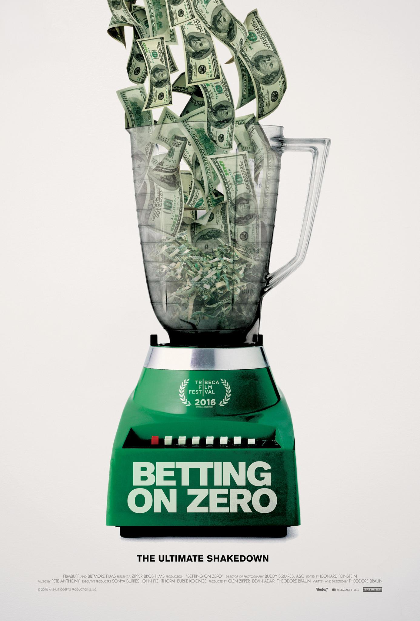 Affiche du documentaire Betting On Zero