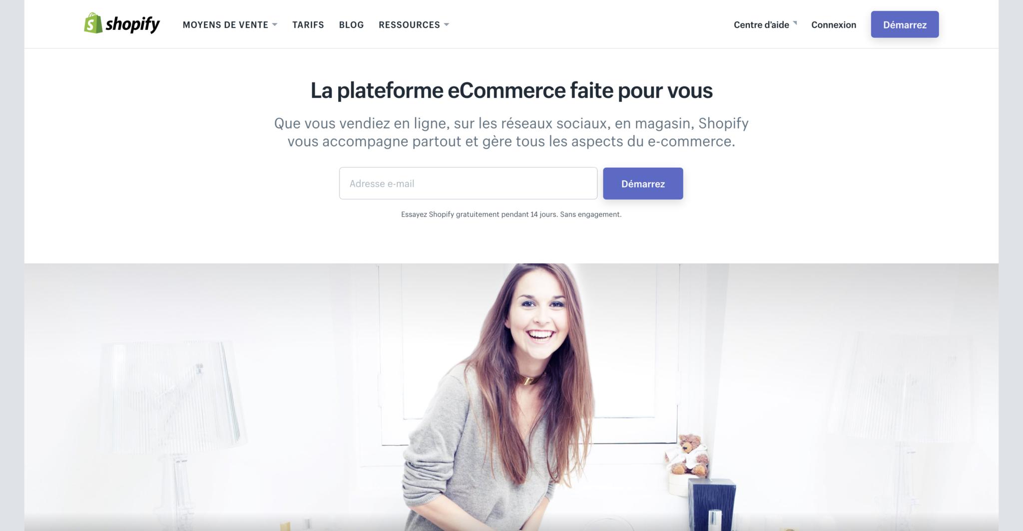 Meilleure solution e-commerce votre boutique en ligne avec Shopify
