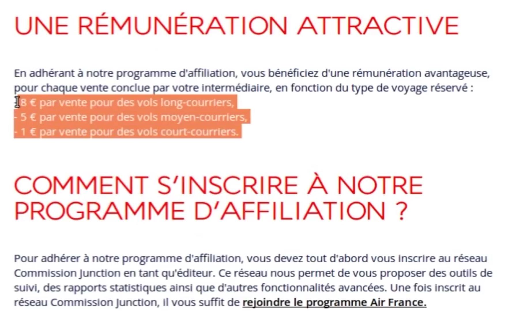affiliation air france
