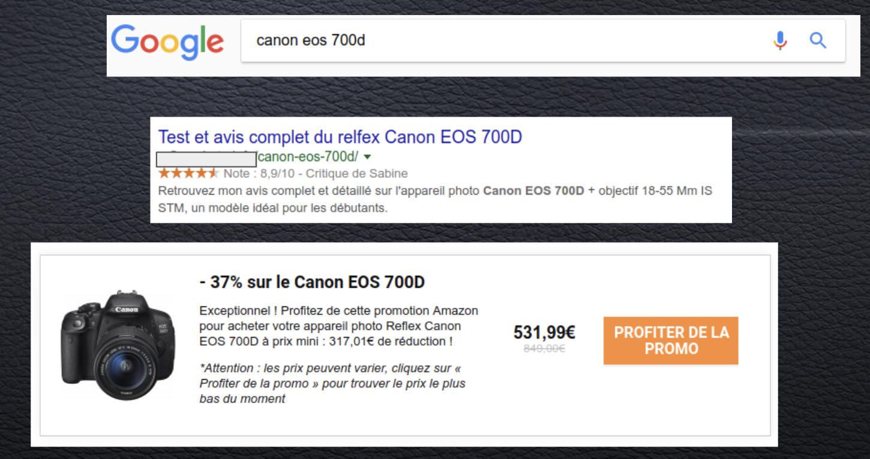exemple recherche et résultats gagner de l'argent sur internet