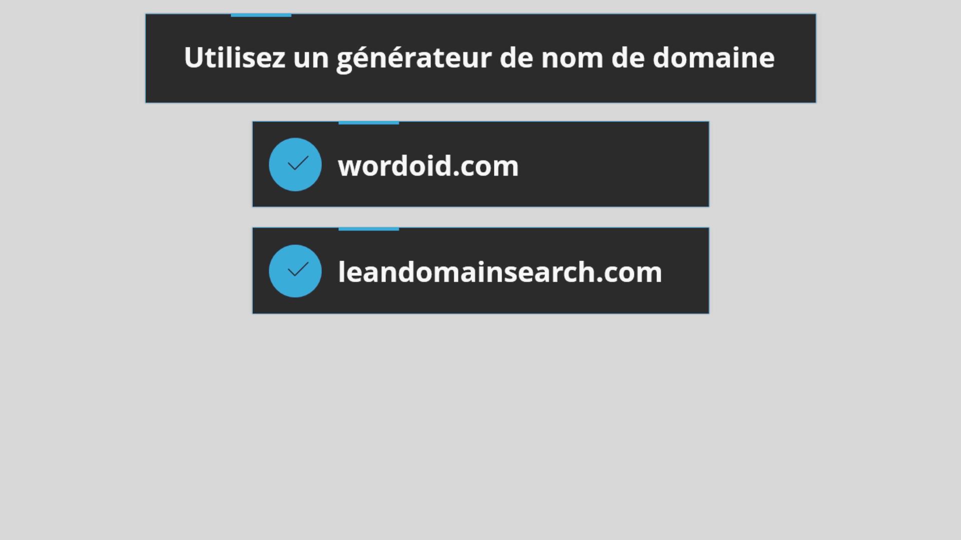 générateur nom de domaine